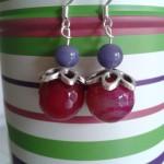 boules fuschia perles violette