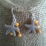 étoiles perles jaunes