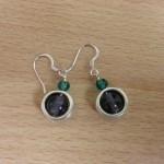 anneaux argentés violettes turquoises