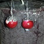 boules nacrées rouges roses