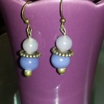 Perles violettes bronzes